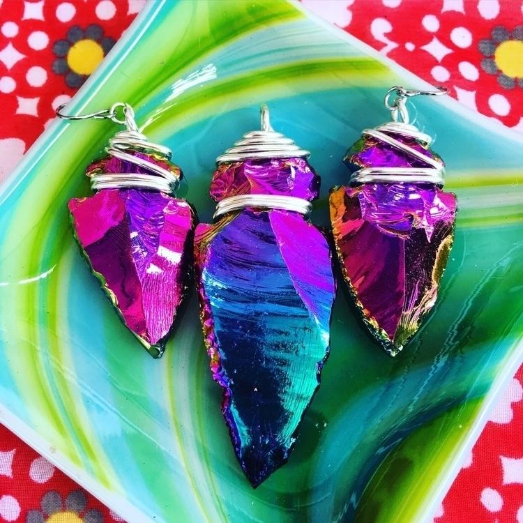 Rainbow aura arrowheads  - rainbow - mermaidtearshawaii | ello