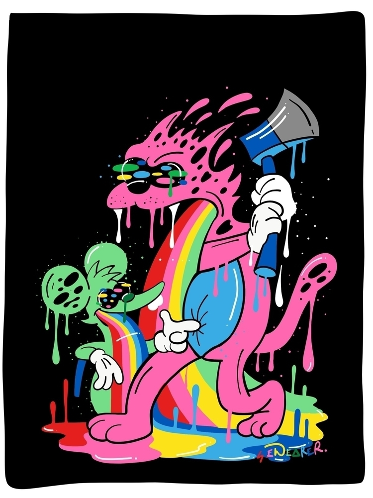 Itchy Scratchy print A4. £18 fr - ms_wearer | ello