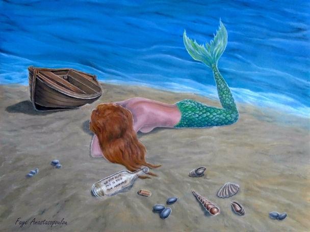 mermaid, coastal, scene, sandy - fayeanastasopoulou | ello