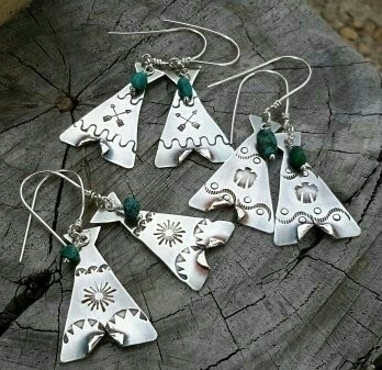 Teepee earrings! Dang Brave Gir - dangbravegirl | ello