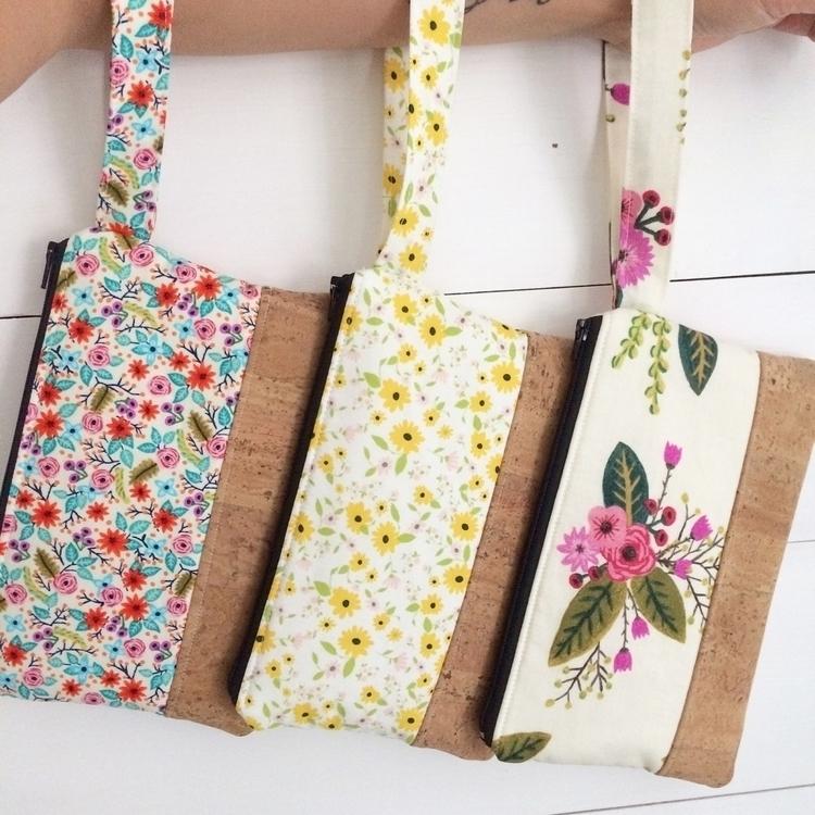 Cork Clutch Wristlets - handmade - saritababy | ello