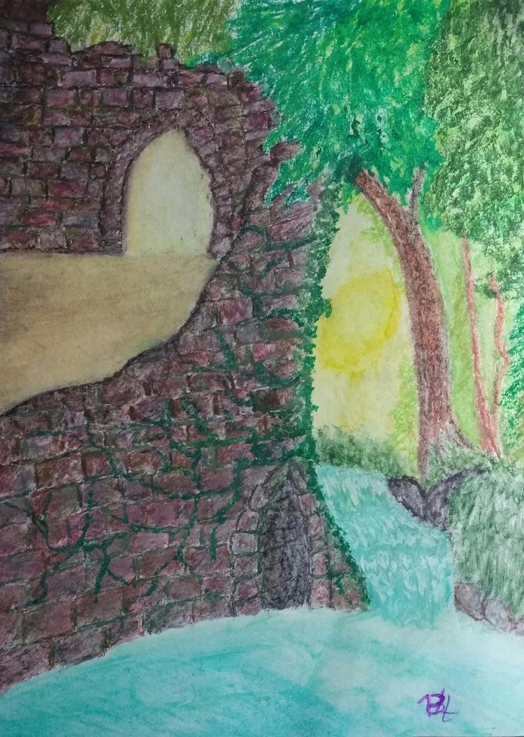 Forgotten Fairytale- oil pastel - totallytwistedfickity | ello