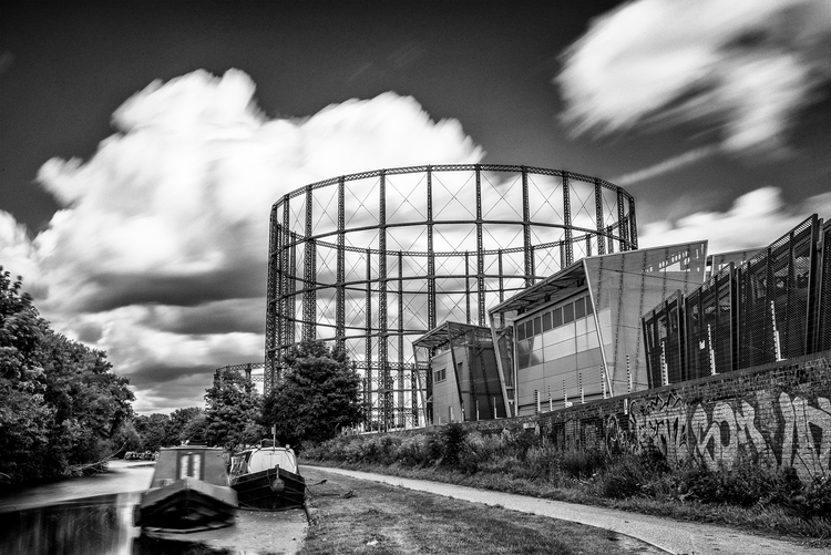 Gas Holder, Grand Union Canal,  - toshmarshall | ello