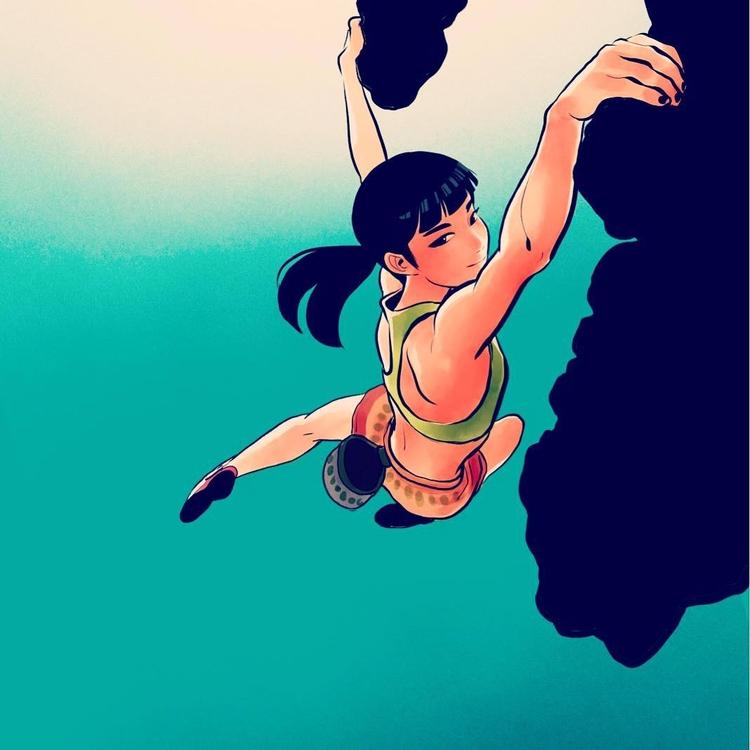 give climbing. Art Jisoo Kim So - fabimo | ello