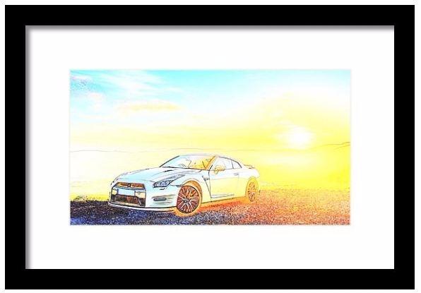 Nissan Gt 45th Framed Print Pix - pixbreak | ello