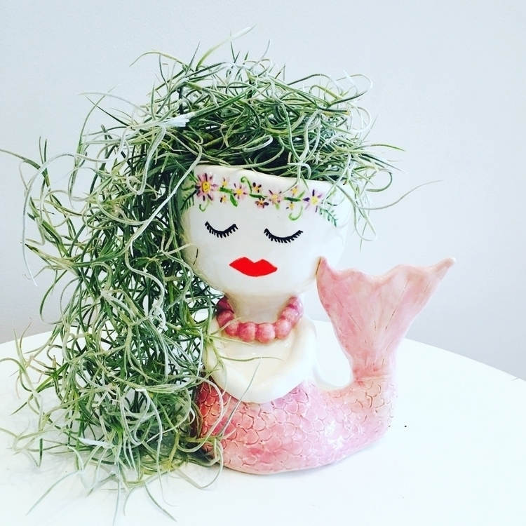 Mermaid planter Spanish Moss ha - livingdecortwins | ello