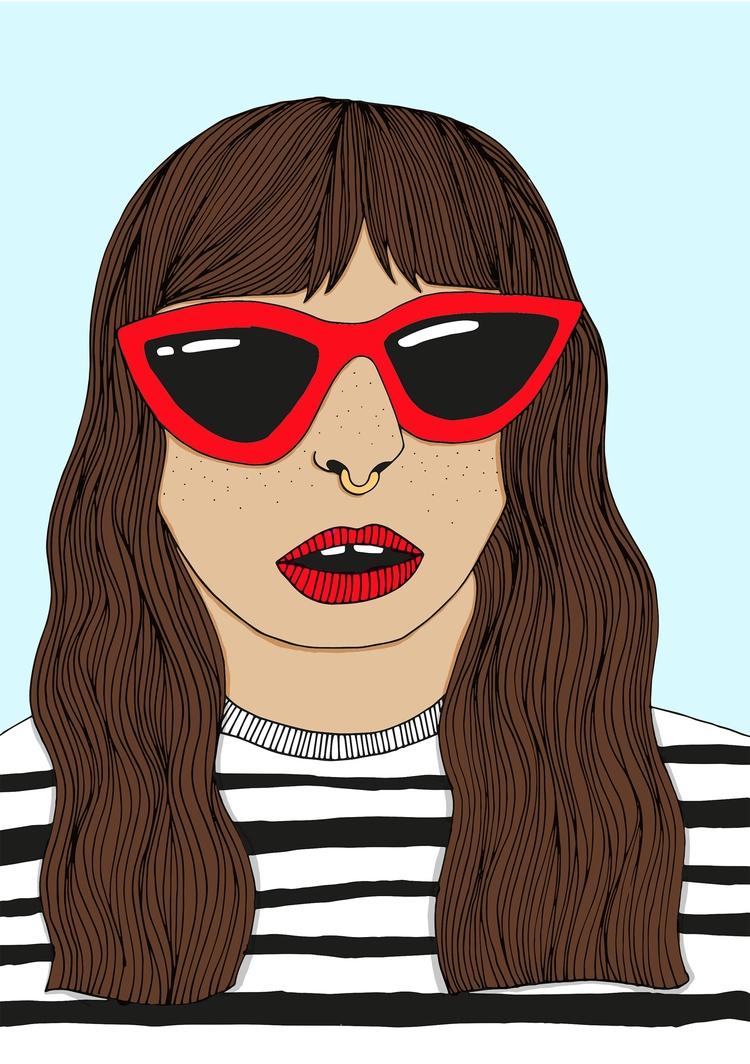 Cat Eye Sunglasses - illustration - jessicavaughan | ello