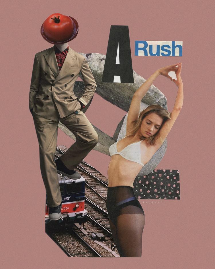 Rush - collage, handcut, shushpo - shushpo | ello
