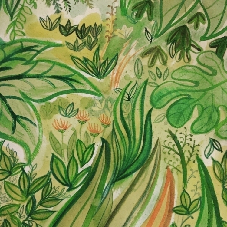 Playing plants - instaart, illustration - sarahundart | ello