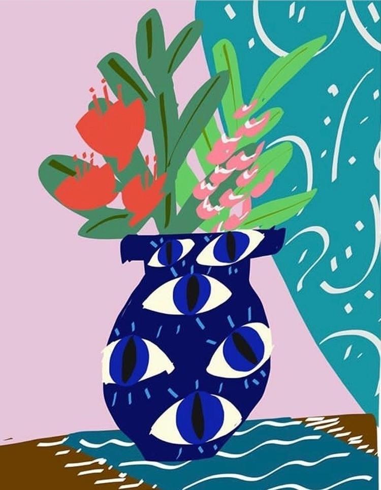 eye - art, illustration, flowers - bitweirdthat | ello