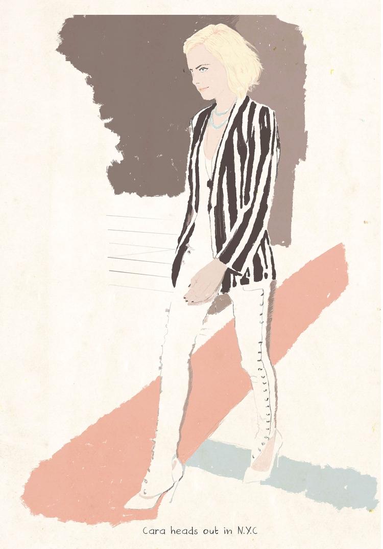 Cara - illustration, fashion, icon - zoe_vadim | ello
