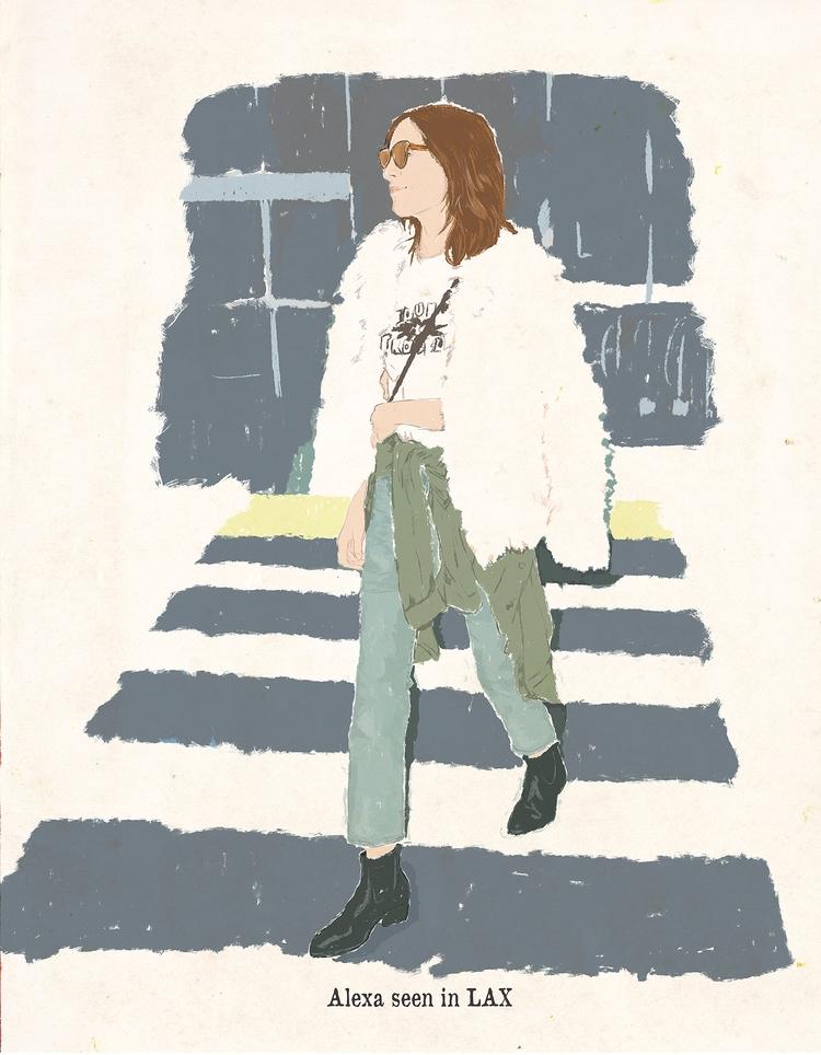 AlexacC - illustration, dessin, drawing - zoe_vadim | ello