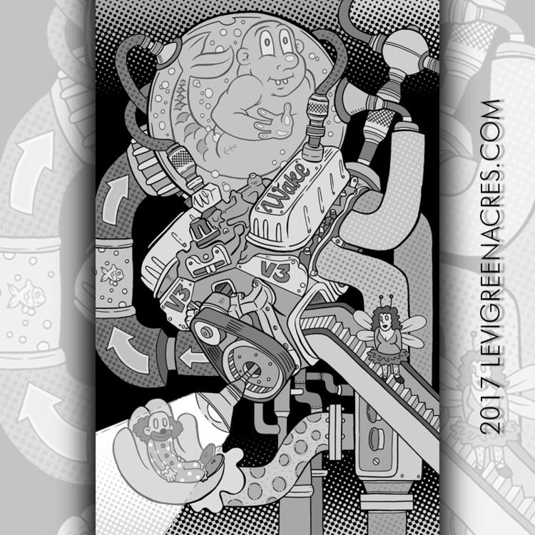 Wake Letters Void - Engine,#illustration - levigreenacres | ello
