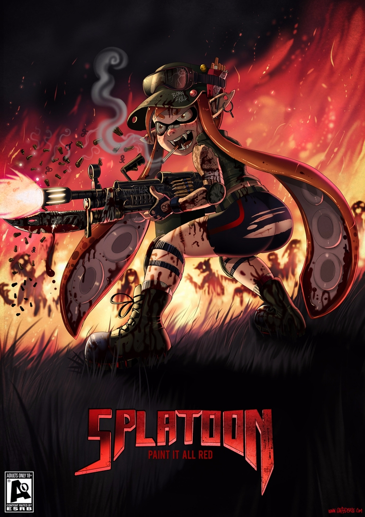 Splatoon Hatred - darkrogue72 | ello