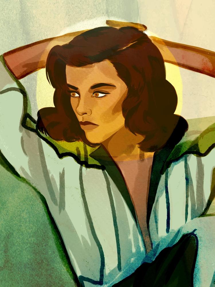 Space Lady - digitalart, illustration - cariguevara | ello