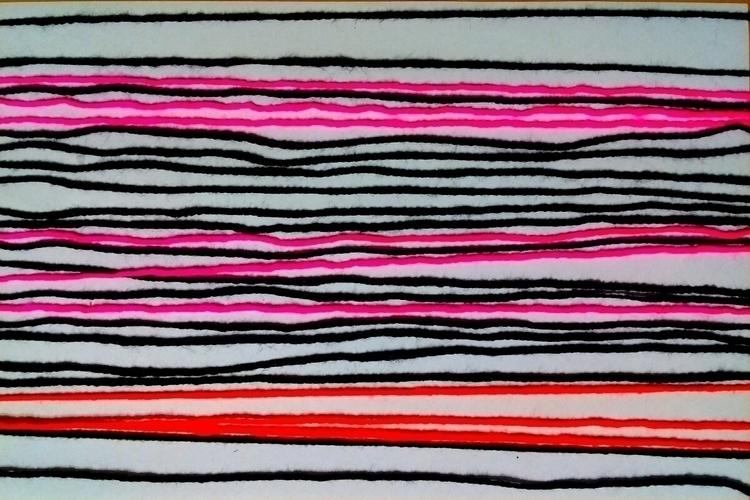 Wave wool - woolcraft, stripes - hansrchristensen | ello