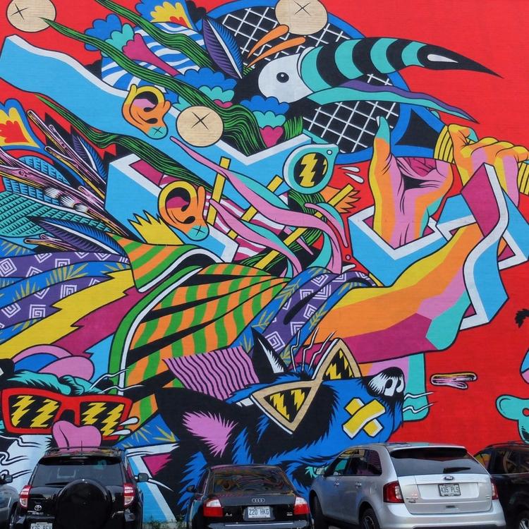 Wall - street, streetart, streetartist - philippefabry | ello