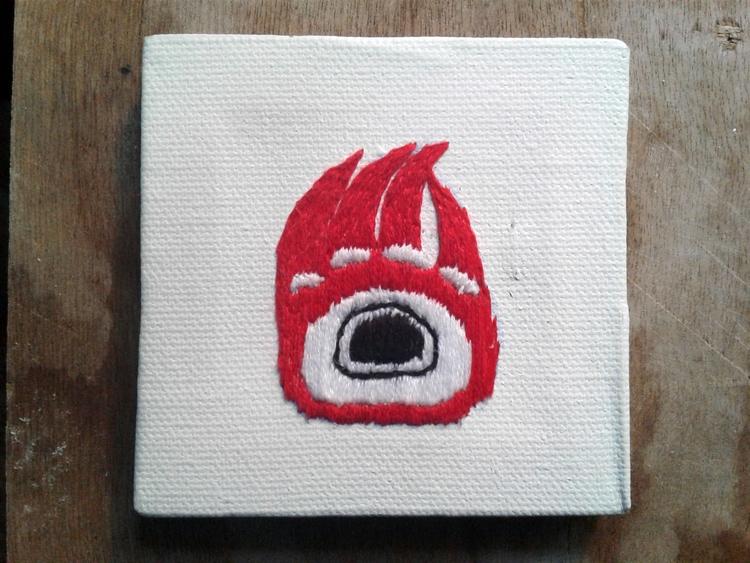 Haida design - embroidery, handembroidered - valentinacano | ello