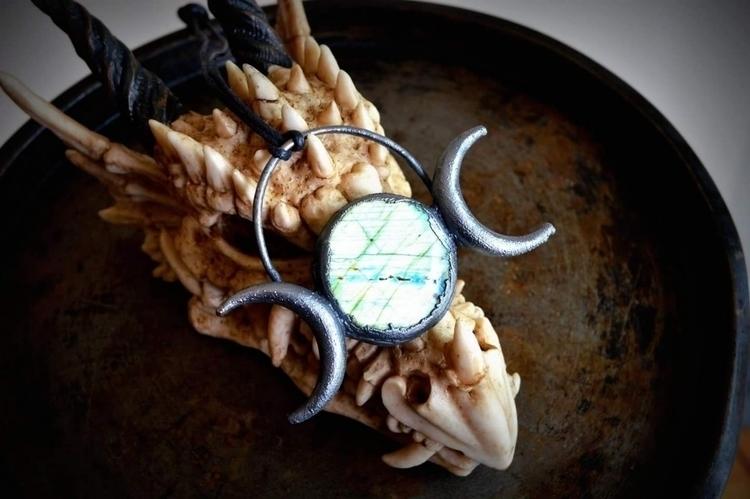 Tripple Moon: Labradorite Moon  - spiritualdragon | ello