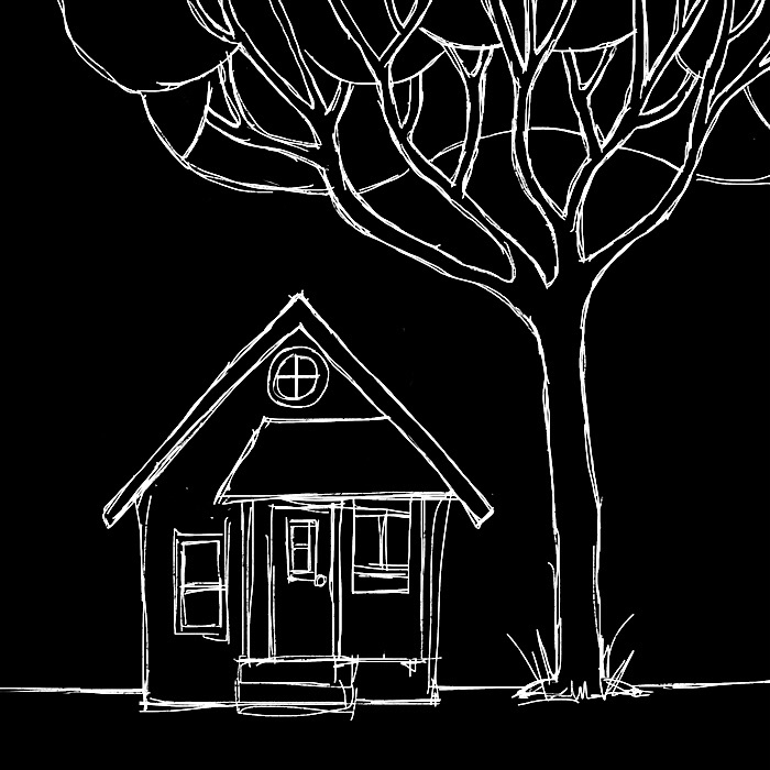 doubt bungalow - tree, house, illustration - catswilleatyou | ello