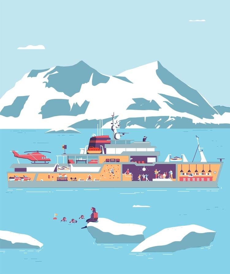 Illustration Boat International - faustomontanari | ello