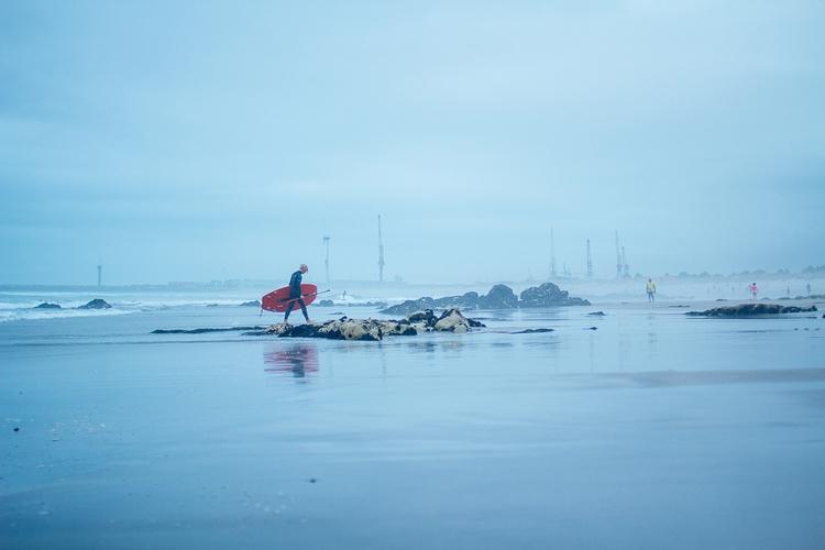 Lone Surfer (SUPper) misty day  - noukka | ello