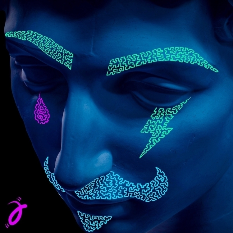 Neon Hipster. Squiggle Furmie - illustration - furmie | ello
