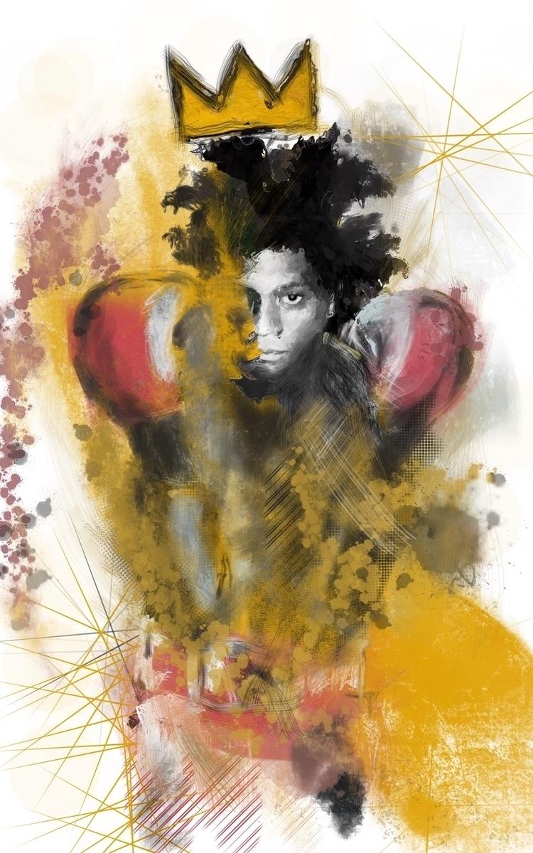 King Noble Art - basquiat, illustration - inkycubans | ello
