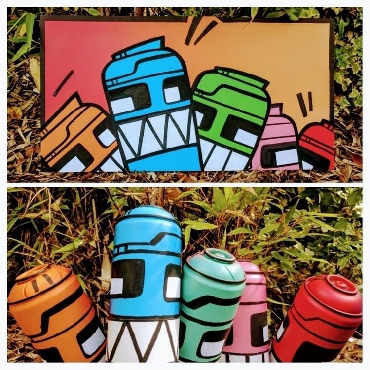 2D 3D. Canned Robots - __jask__ | ello