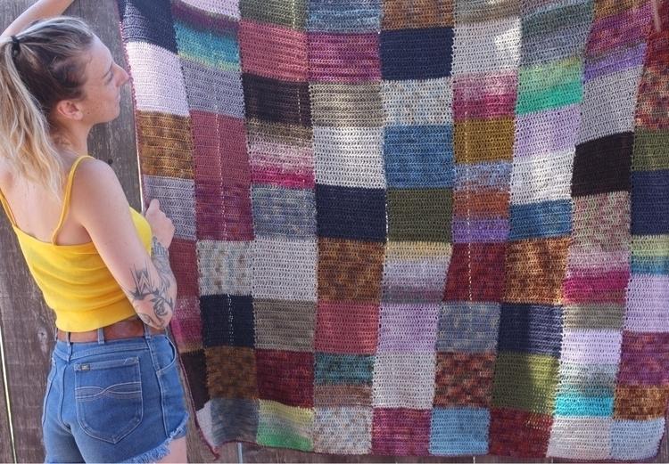 crochet, scrappyblanket - knitalatte | ello