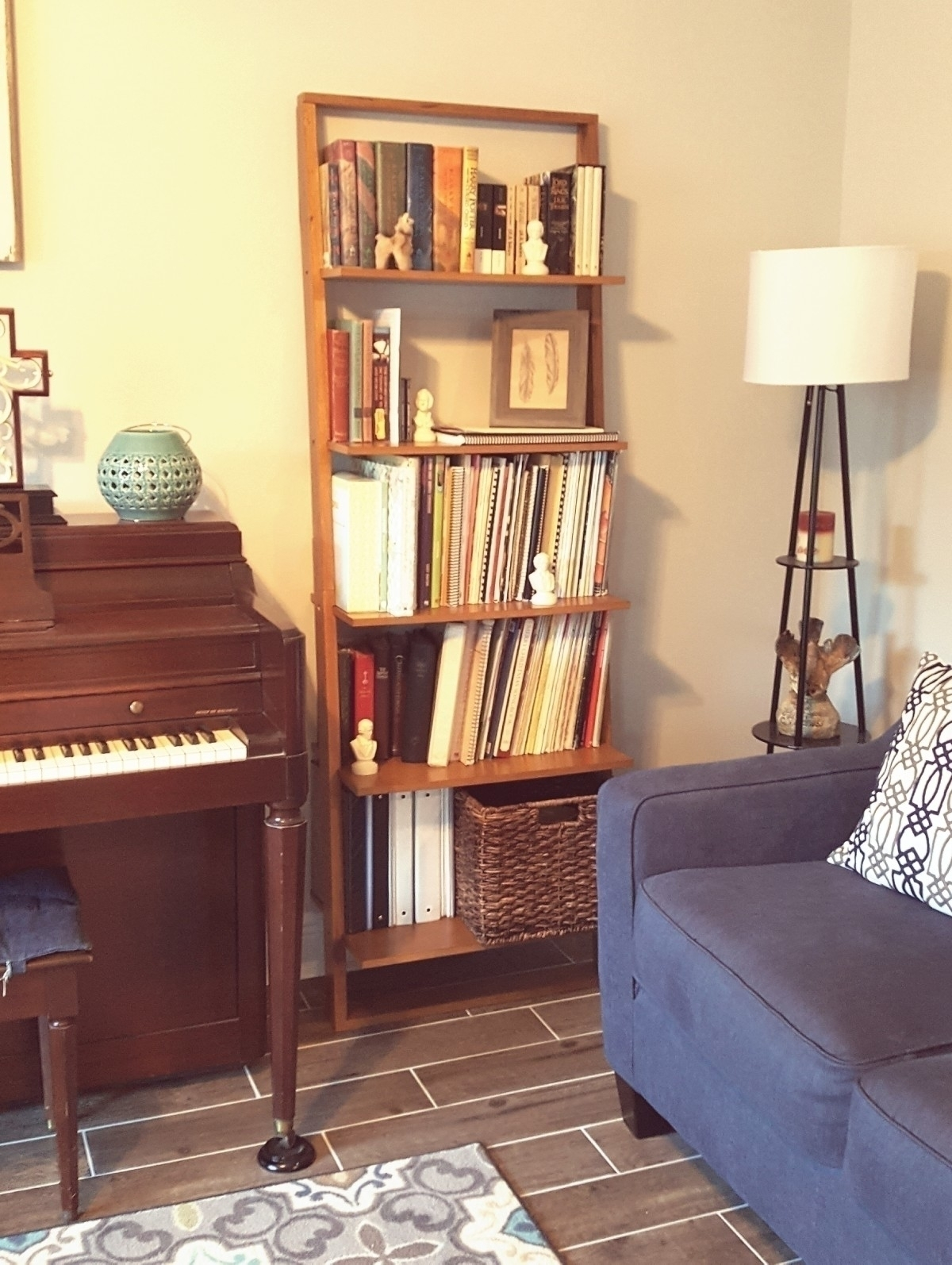 bought leaning bookcase Wayfair - reed_therapy   ello