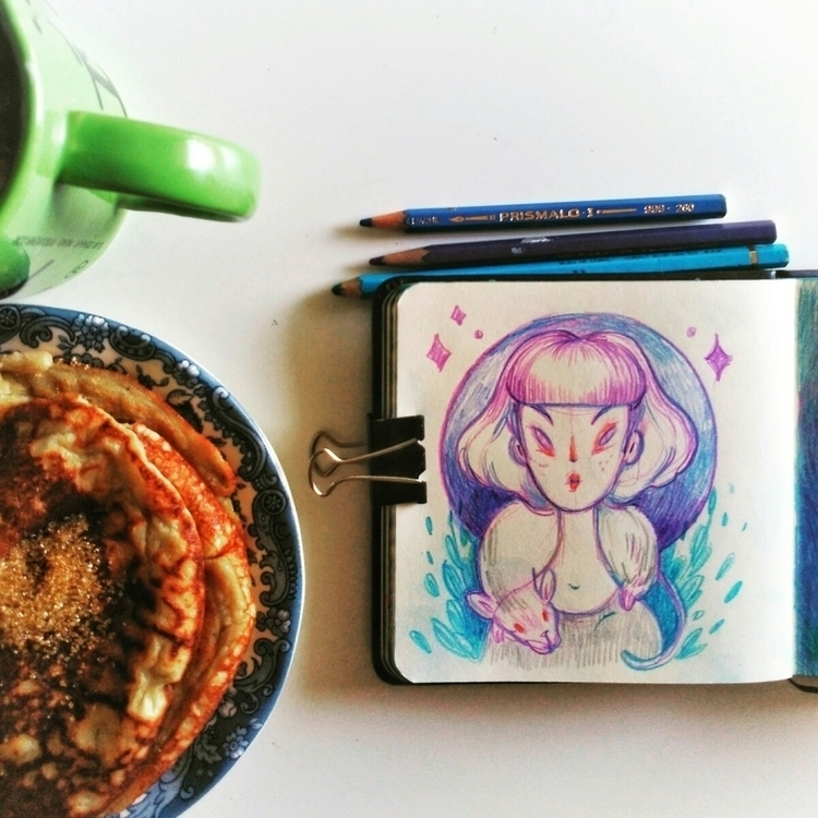 sketchbook, pancakes, coffee - paola_vecchi | ello