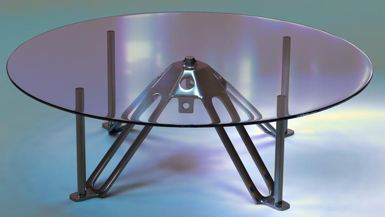 table design! Modeled rendered  - ke7dbx | ello