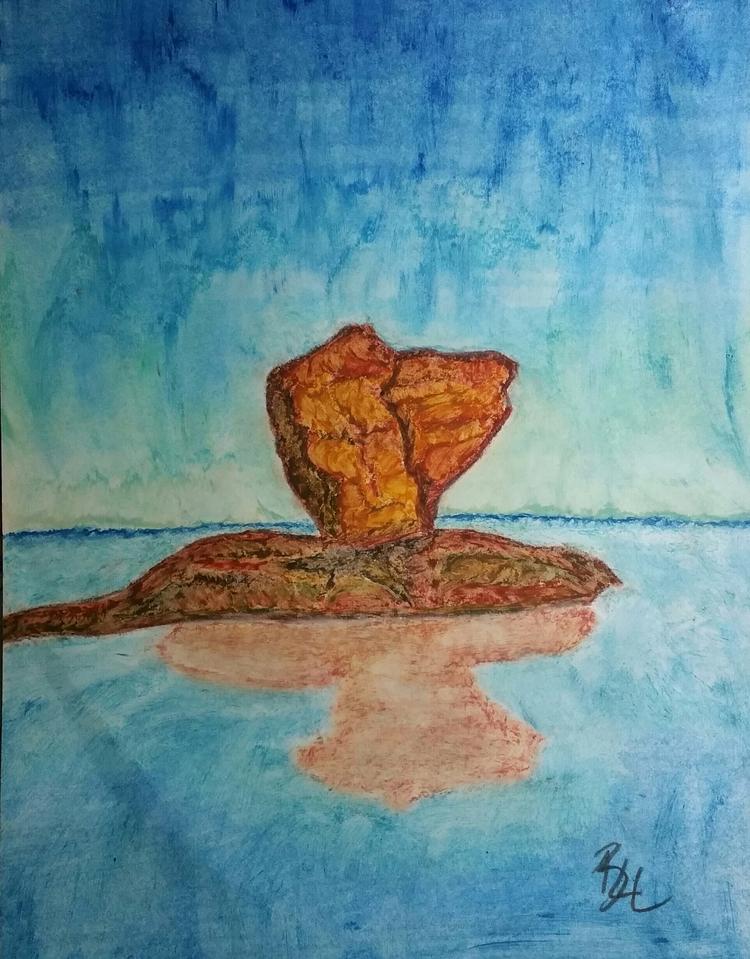 Time erosion. Oil pastel art - totallytwistedfickity | ello