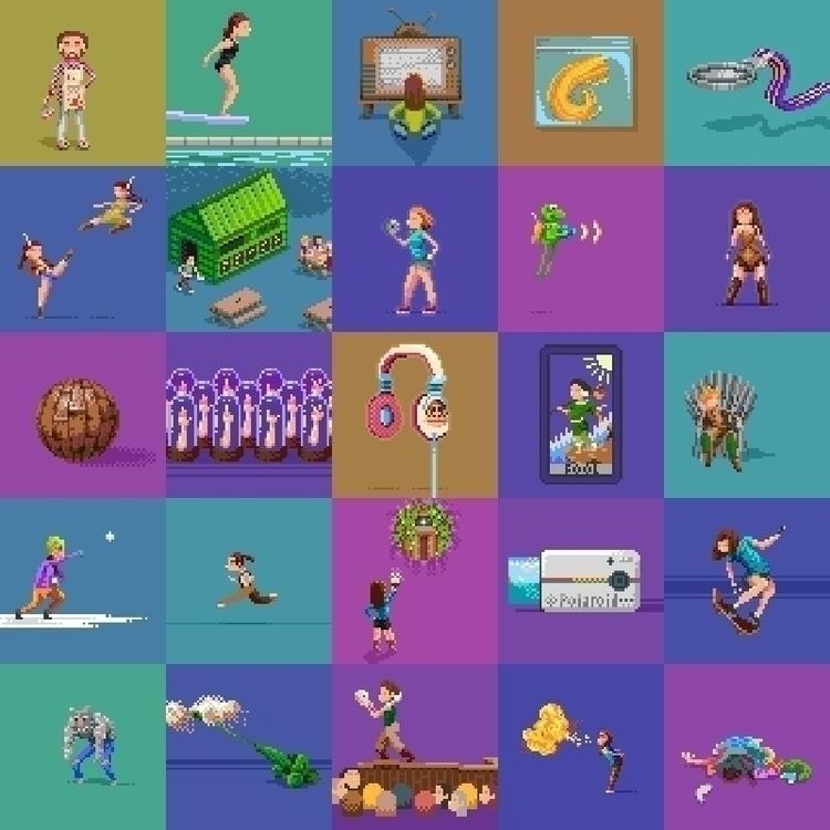 pixel dailies finished pieces b - hivernoir | ello