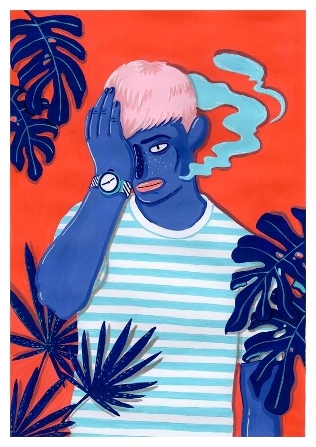 MEET POOL - acrylic painting - illustration - sarahmatuszewski | ello