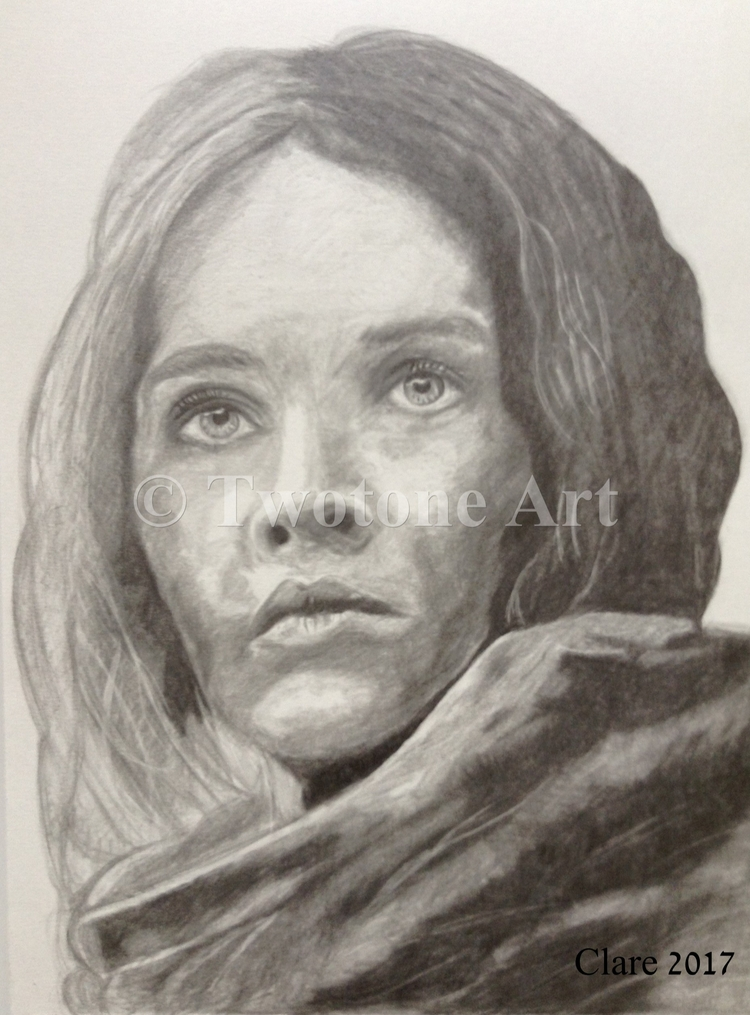 Jyn Erso Graphite Pencil A3 Can - twotoneart | ello