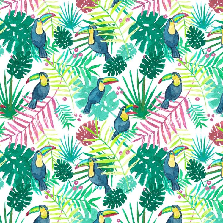 TROPICALIA - pattern, summer, toucan - isabelcamarasa | ello