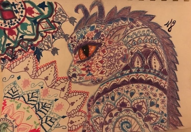 Henna dragon - henna, abstract - allyzcat | ello