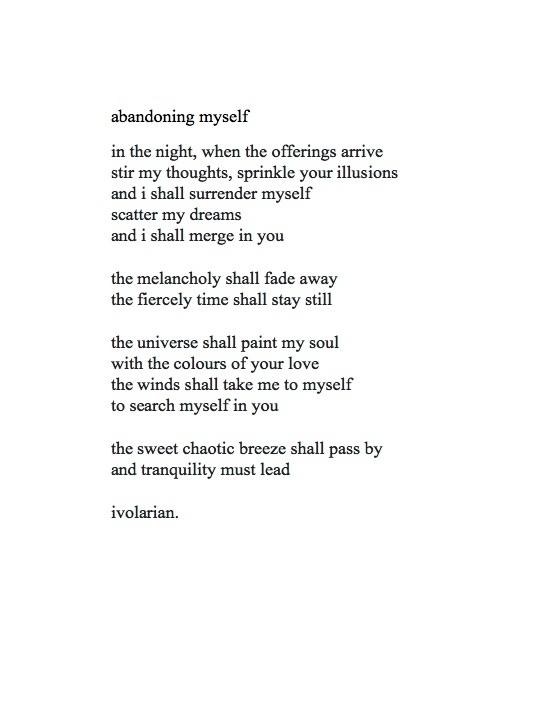 - ivolarian - poetry, writer, poet - atamjot | ello