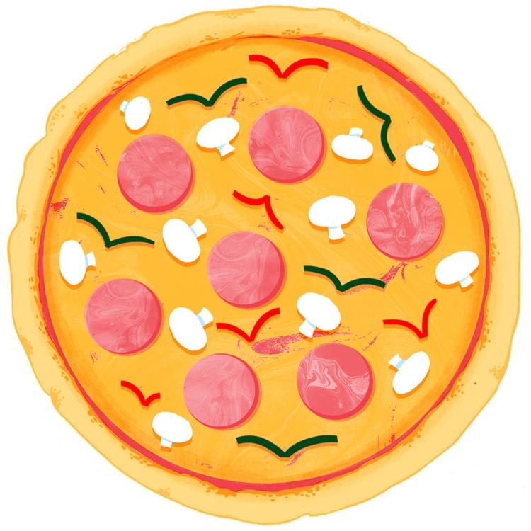 Pizza - illustration, pizza, food - mikedriver | ello