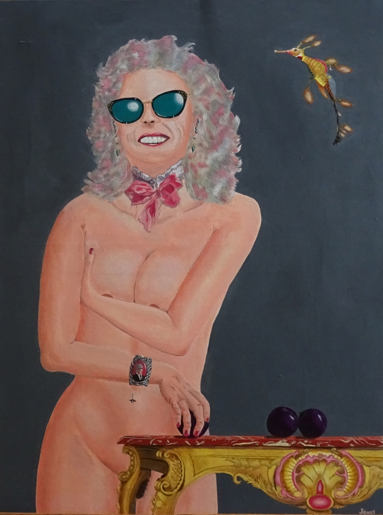 Pompadour Plum acrylic canvas,  - teragram1 | ello