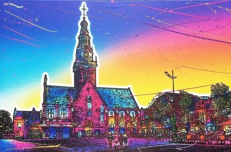 Waagtoren city Alkmaar. Mixed m - raymondheere | ello