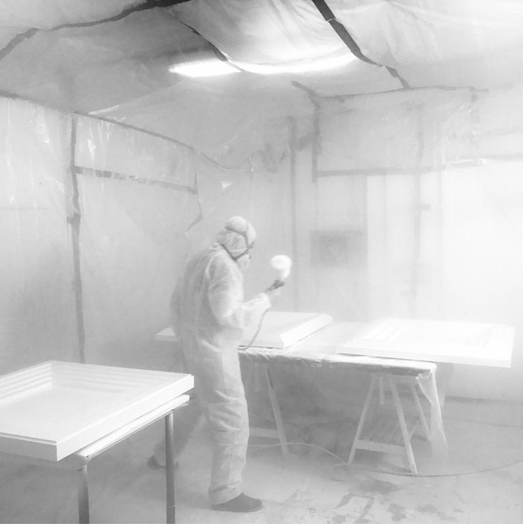 white studio - paint, art, studiotime - dotdotdot   ello