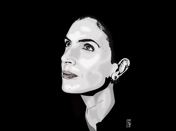 Vector Portrait Anabela Mota Ri - artespraticas | ello