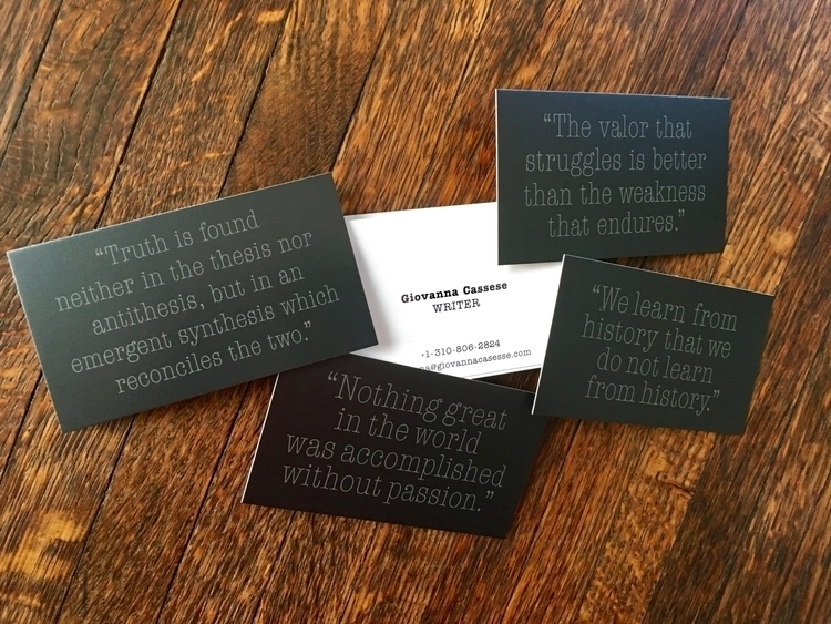 Business cards young talented w - ricardo_caillet-bois | ello