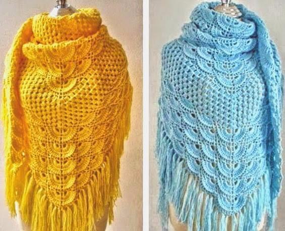lovely shawl model happy patter - brunacrochet | ello