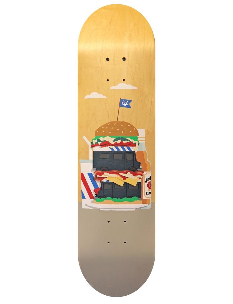 Hand painted skateboard, acryli - chrisversteeg | ello