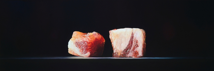LARDONS, 2015, 50 × 150 cm, oil - christopheberle | ello