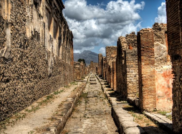 street Pompeii - Mt. Vesuvius r - neilhoward | ello